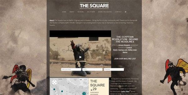 Movie Websites: The Square