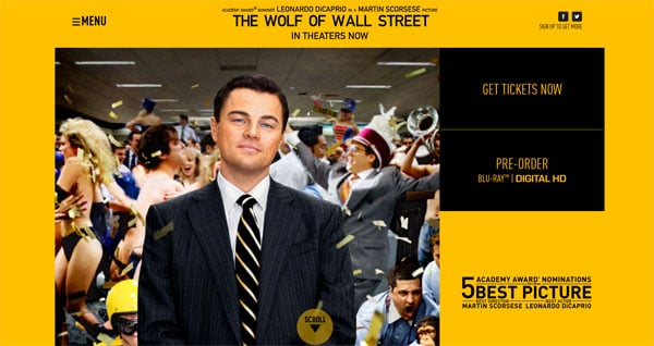 Movie Websites: The Wolf of wall Street