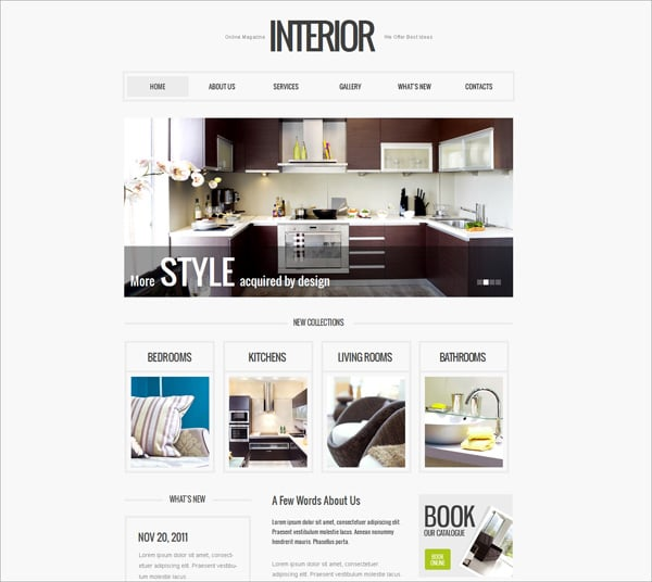 Clean Style Interior Website Template