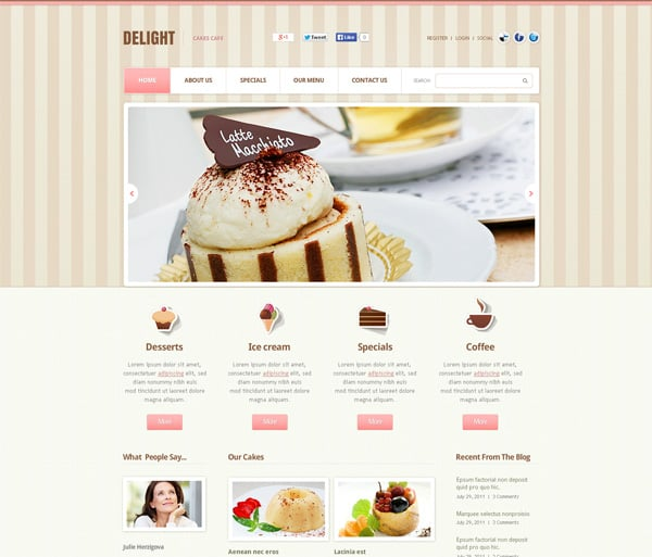 Website Templates in Pastel Colors to Achieve Elegant and Polished Look