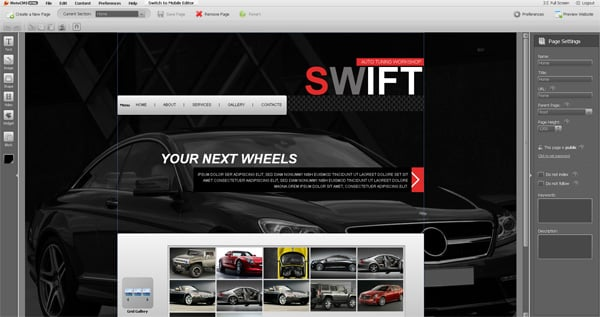 Get a Car Website Templates for 30 Days Free