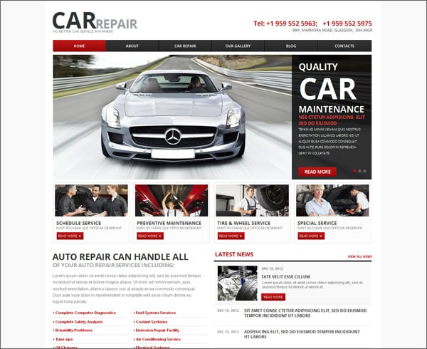 Car Website Templates – Points to Look For