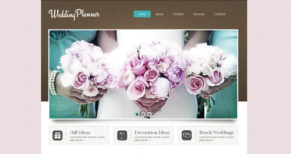 MotoCMS Wedding website template