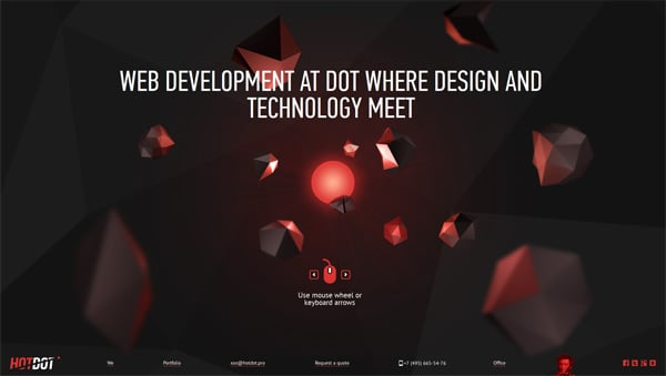 36 Polygon Style Web Designs: A Magic of  Geometry