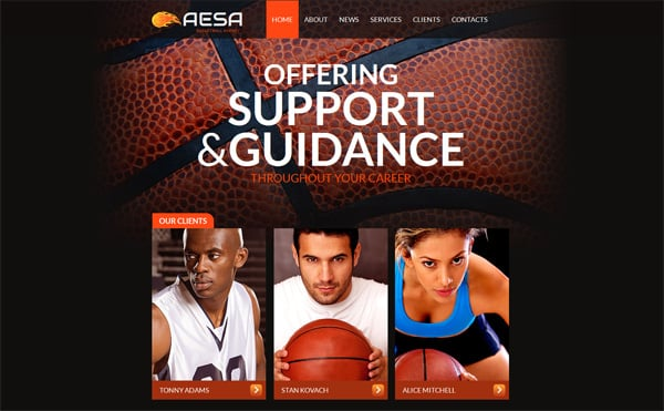 Sports Website Templates Serving Your Needs Online