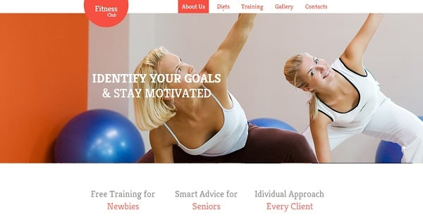 Clean and Simple Website Template for Pilates and Yoga Classes