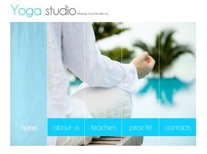 Flash Website Template for Yoga Studio with Background Photos