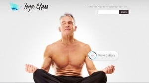 Yoga Site Template in Minimalist Style