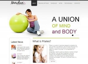 Bright Design with jQuery Slider for Fitness Studio