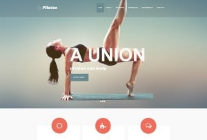 Clean Pilates Website Template with Large Image Slider