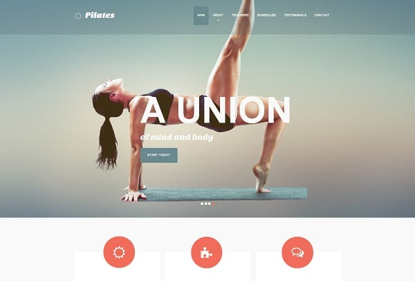 Clean Yoga Website Templates