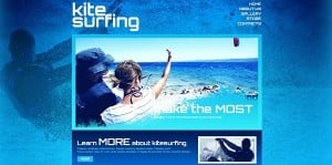 Blue Design for Water Sports Website