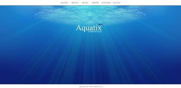 Deep-Blue Template for Aquarium Website