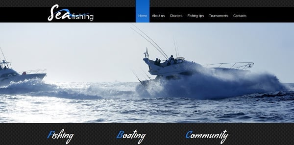 Energetic Fishing Website Template