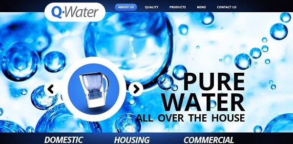 Fresh Template for Water Filters Site