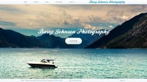 Photo Website with Water Background