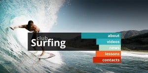 Template for Surfing Website
