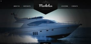 Design for Yachting Website with Slide Gallery