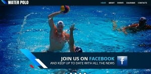 Water Polo Template for Sport Site