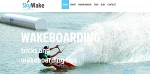 Water Template for Surfing Website