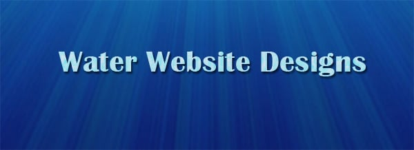 Key Elements in Water Website Design