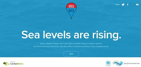 Water Website Design - world under water