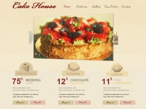 Bakery Website Template in Retro Style