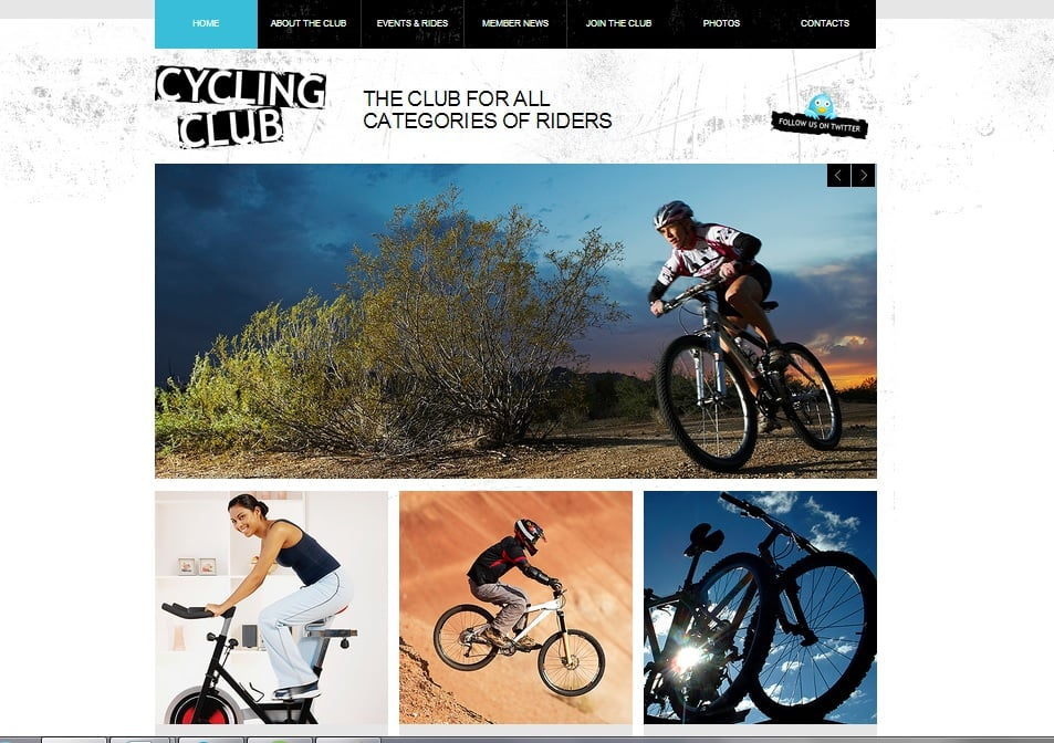 Grunge Design for Cycling Club Website