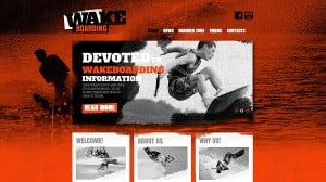 Grunge Template for Wakeboarding Site