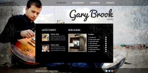 Grunge Template for Singer's Website