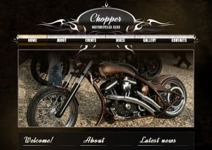 Motorcycle Club Site Template with Vintage Elements
