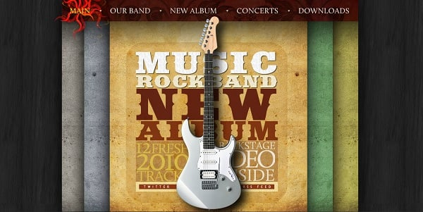 Music Website Design with Retro Elements