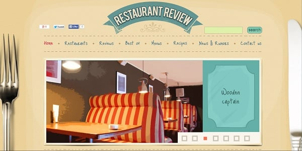 Restaurant Design in Retro Style