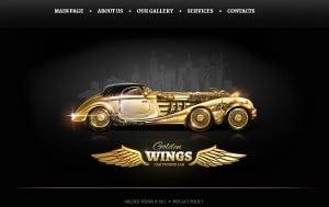 Retro-Style Design for Car Tuning Website