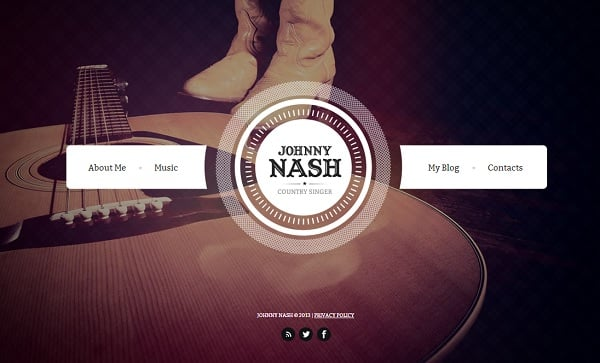 Retro-Style Template for Musician