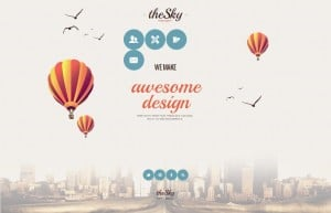 Template for Web Design Agency in Vintage Style
