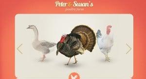 Vintage Template for Poultry Farm