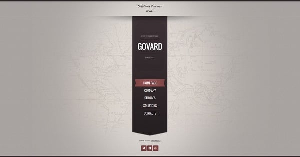 Brown-Toned Monochromatic Website Template