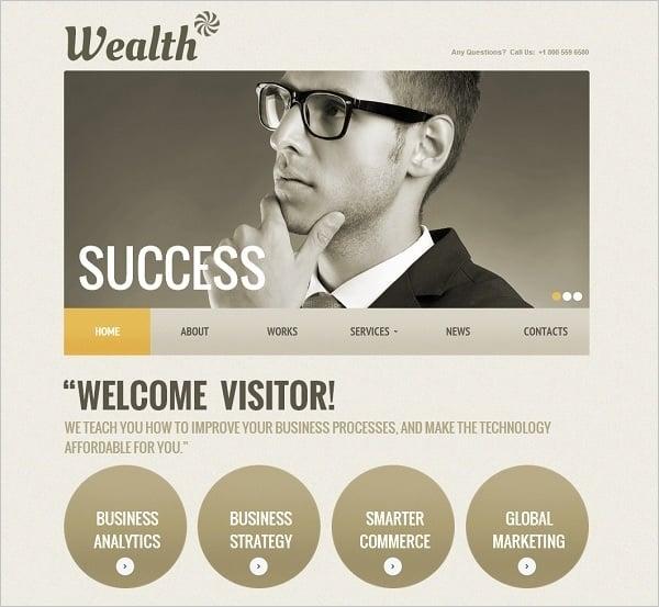 Business Monochromatic Website Template