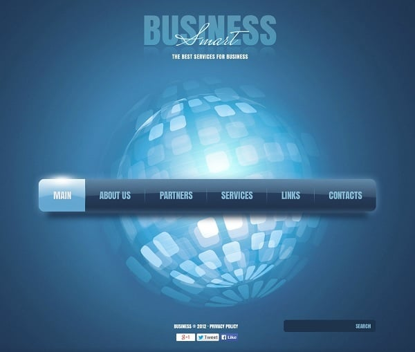Business Monochromatic Website Template
