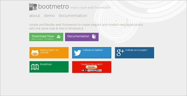 Create Website in Metro Style: Frameworks, Plugins, Templates