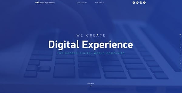Eleks monochromatic website template