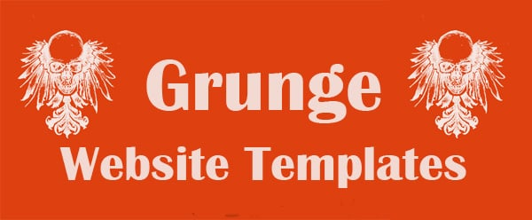 Grunge Website Templates Add Personality to the Site