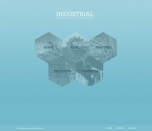Industrial Monochromatic Website Template