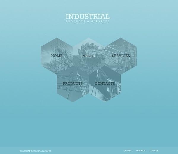 Industrial Monochromatic Website Template