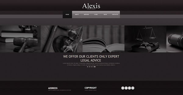 Lawyer Monochromatic Web Template
