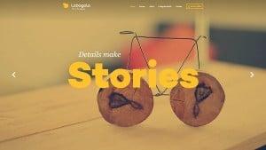 Lobagola web design in monochromatic style