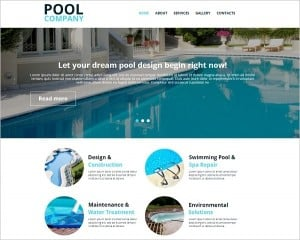 Pool Company Website Template