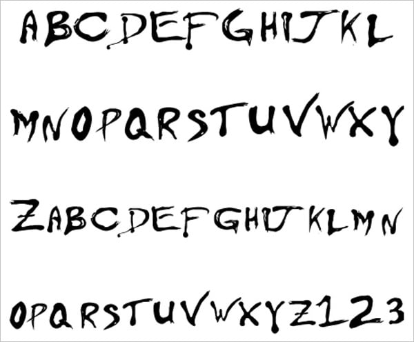 Free Rock Band Fonts Collection on Different Font Styles Alphabet