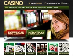 Gaming Website Template for Online Casino